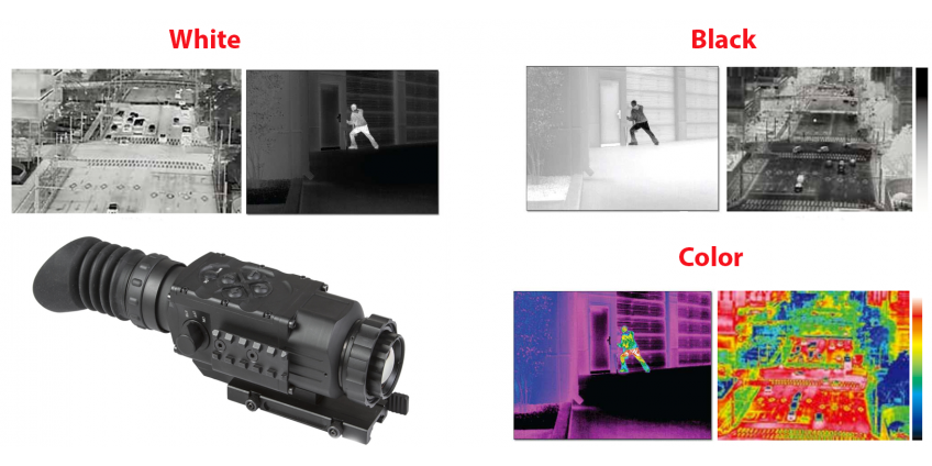 Difference between Black and White or Color palettes on Thermal Imaging